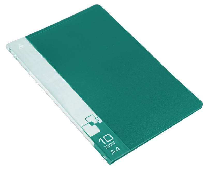 Папка  10 вклад. 0,6мм зеленая