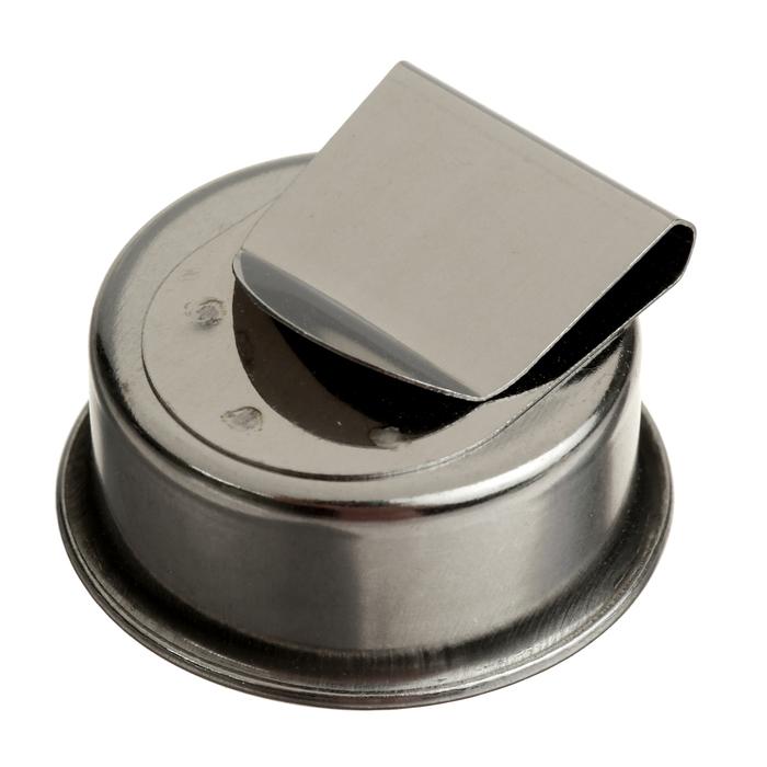 Масленка одинарная металлическая 4,5*1,7см