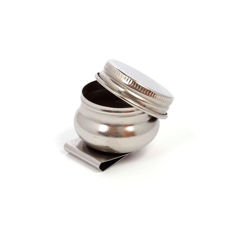 Масленка одинарная с крышкой металлическая 4,2см