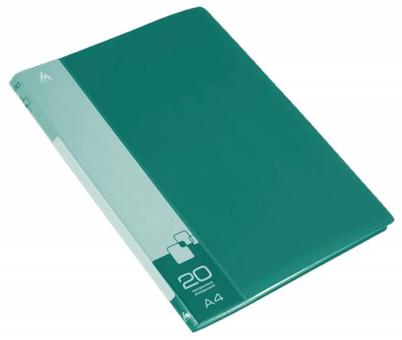 Папка  20 вклад. 0,6мм зеленая