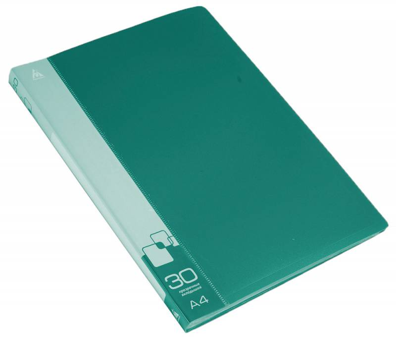 Папка  30 вклад. 0,65мм зеленая