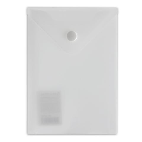 Папка конверт на кнопке Brauberg А6 0,18мм прозрачная