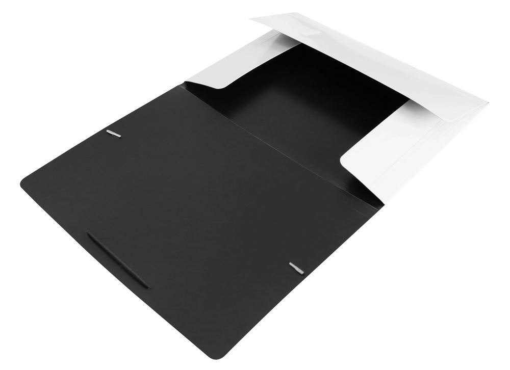 Папка на резинках Бюрократ А4 DeLuxe 0,7мм молочная