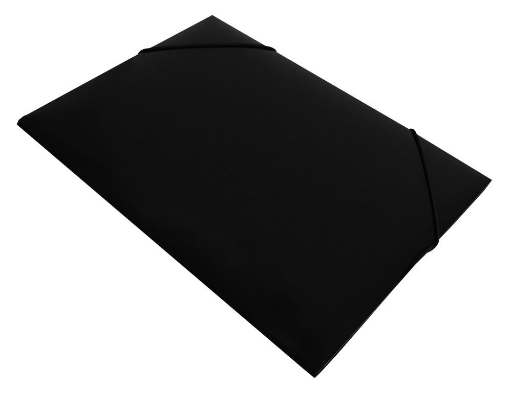 Папка на резинках Бюрократ А4 DeLuxe 0,7мм черная