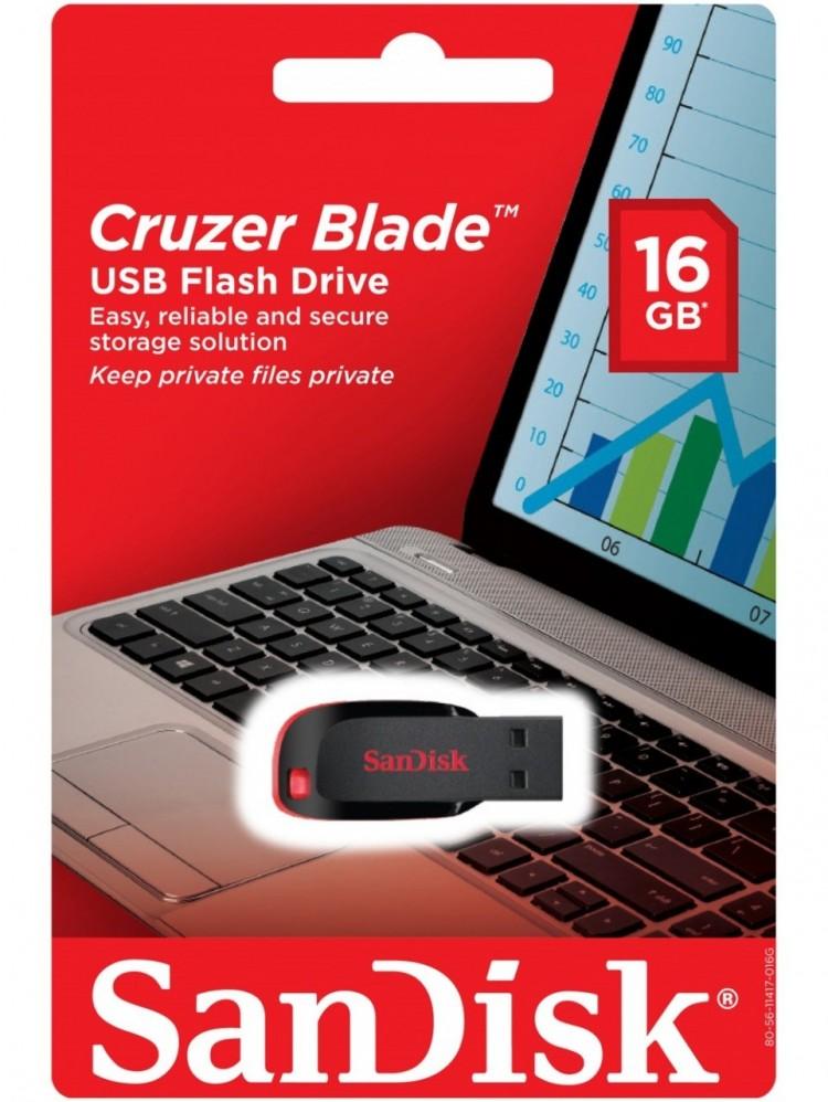 Флэш-диск Sandisk 16GB Cruzer Blade черный