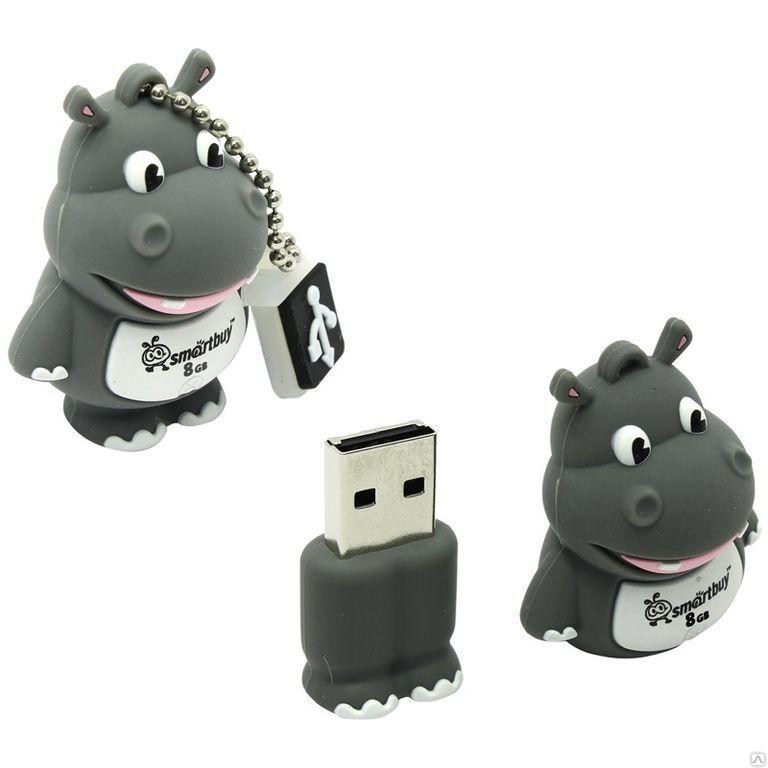 "Флэш-диск Smart Buy  8GB ""Wild series"" серый"
