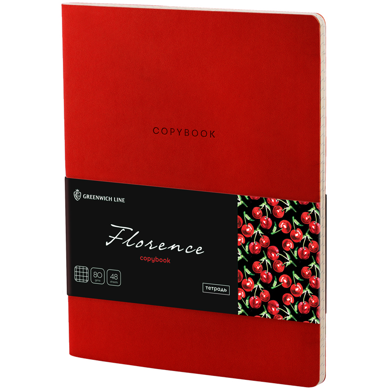 "Бизнес-блокнот А5 48л Greenwich Line ""Florence"" к/зам красный тон.блок"