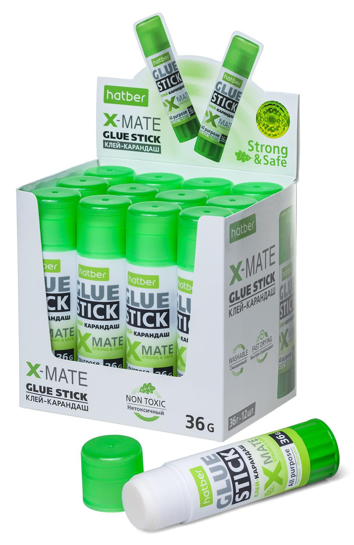 Клей-карандаш Хатбер 36гр X-Mate дисплей