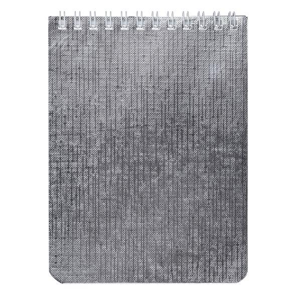 Блокнот А6 40л Хатбер гр. бумвинил METALLIC Серебро