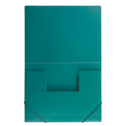 Папка на резинках Brauberg Стандарт 0,5мм на 300л зеленая
