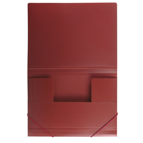 Папка на резинках Brauberg Стандарт 0,5мм на 300л красная