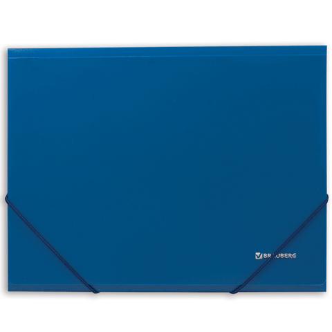 Папка на резинках Brauberg Стандарт 0,5мм на 300л синяя