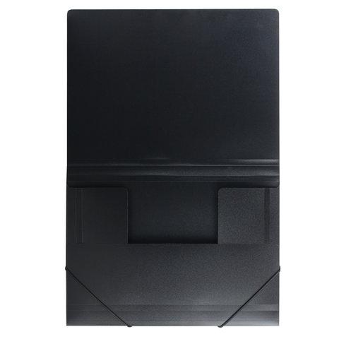 Папка на резинках Brauberg Стандарт 0,5мм на 300л черная