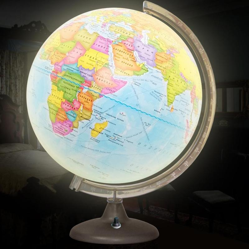 Глобус политический 320мм с подсветкой на батарейках