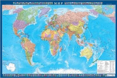 """Карта """"Мира"""" политич. 1:22млн (1,57*1,05)"""