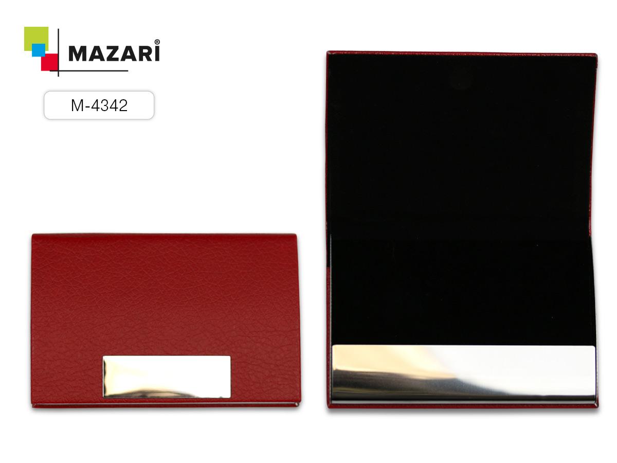 """Визитница Mazari """"Avenue"""" на магните черный"""