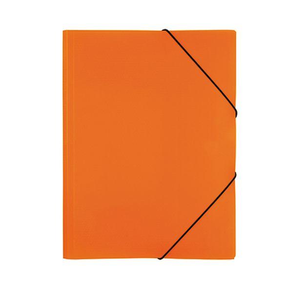 Папка на резинках Хатбер пласт. неоново-оранжевая