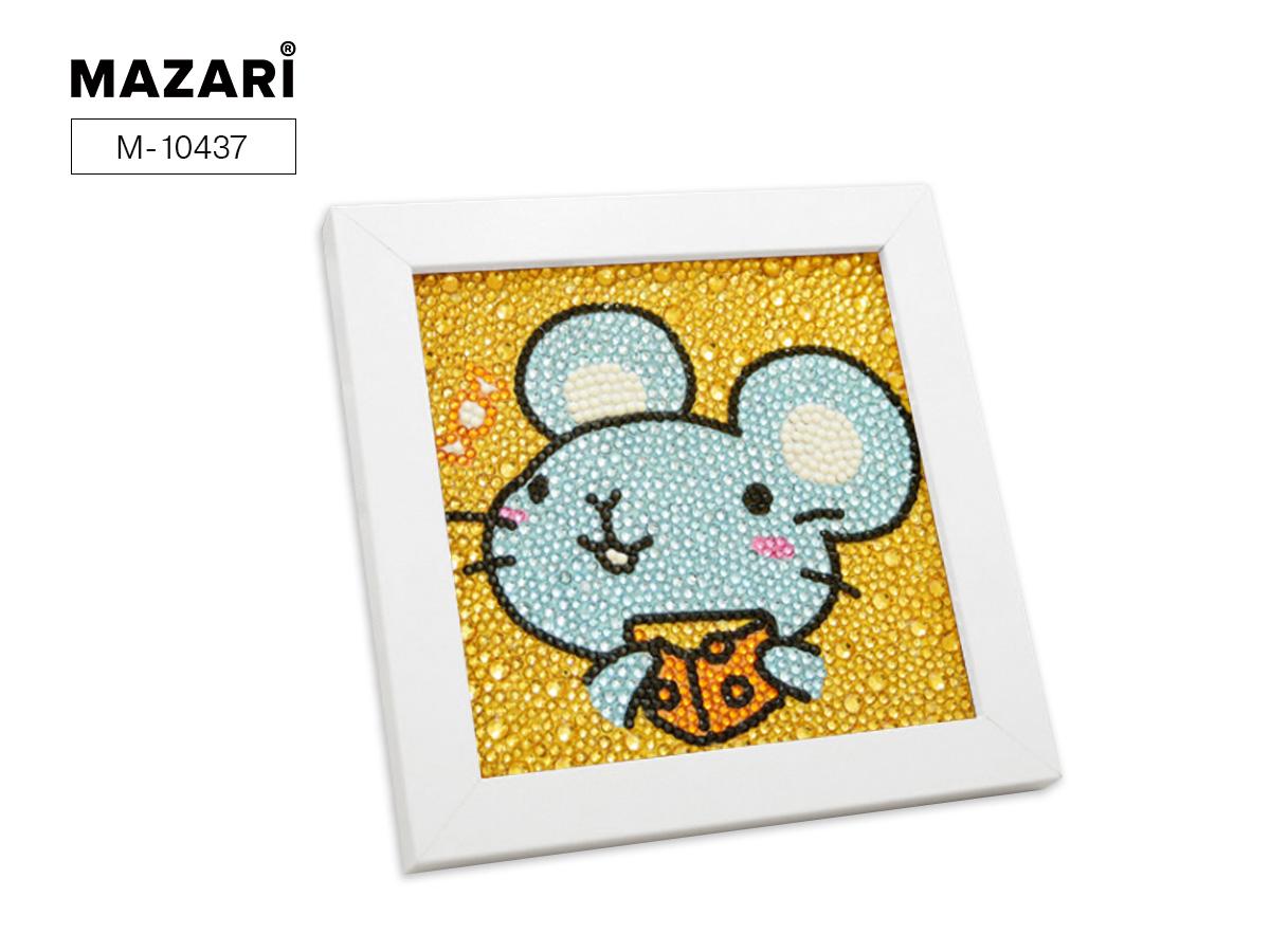 Алмазная мозаика 15*15см деревянная рамка в комплекте