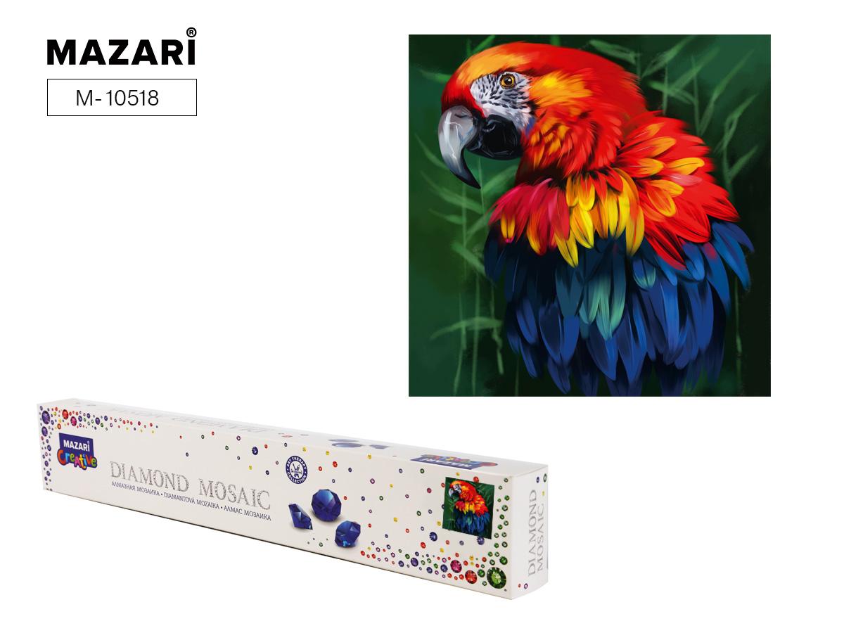 Алмазная мозаика 30*30см Попугай