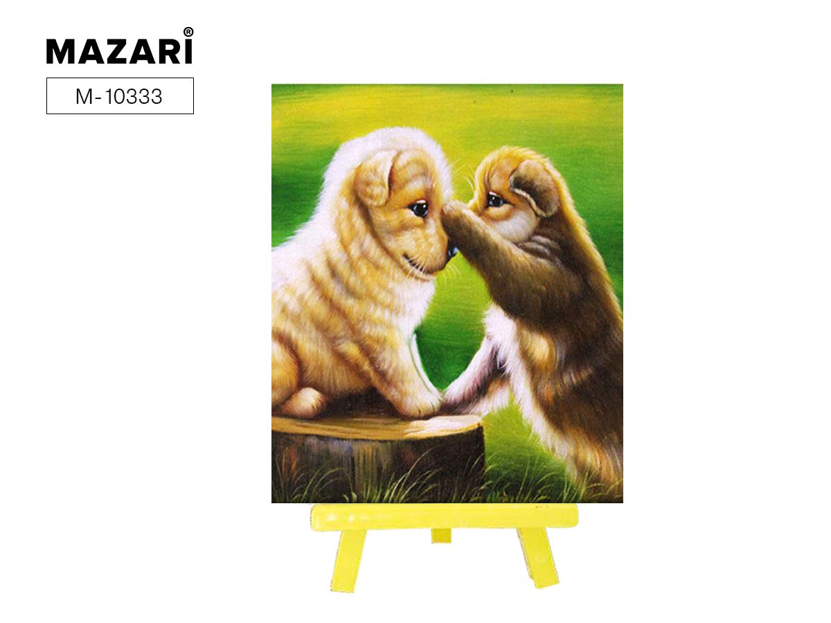 Алмазная мозаика с мольбертом 21*25см Игривые щенки