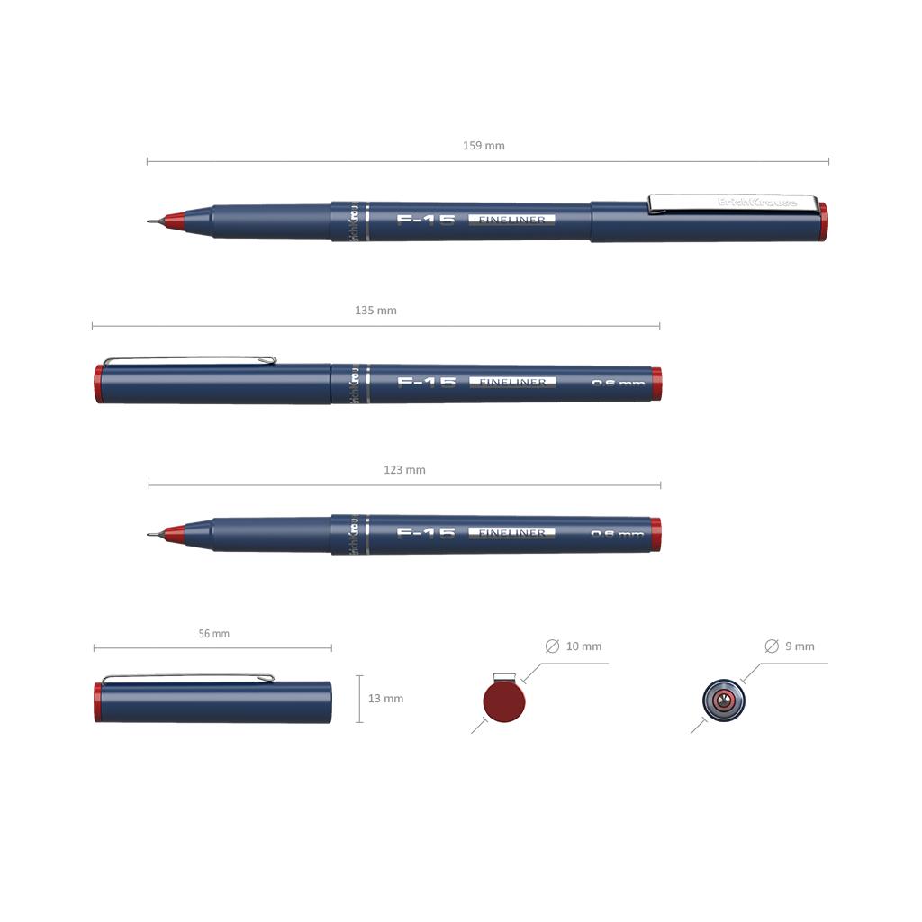Ручка капиллярная ErichKrause F-15 красная