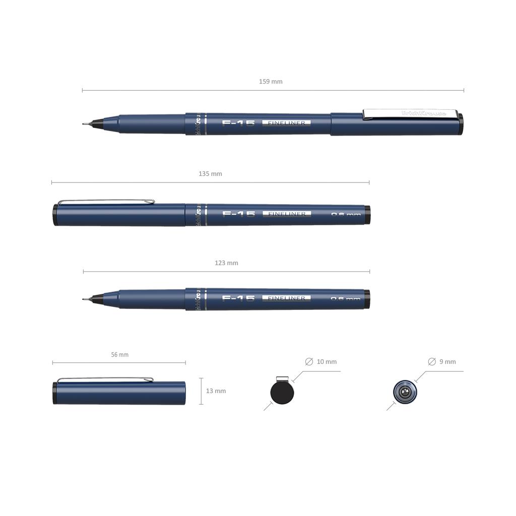 Ручка капиллярная ErichKrause F-15 черная