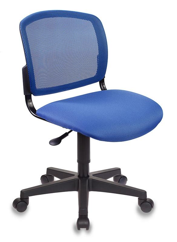 Кресло Бюрократ CH-296/BL/15-10 спинка сетка синий сиденье т-синий