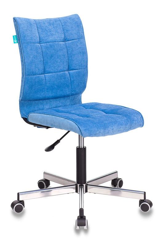 Кресло Бюрократ CH-330M/VELV86 голубой Velvet крестовина металл