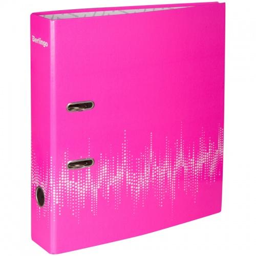 Папка регистр. Berlingo 70мм ламинир. неон розовая