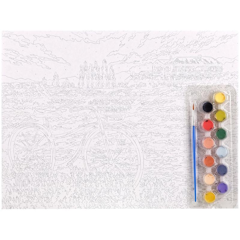Картина по номерам А3 Летняя прогулка акриловые краски