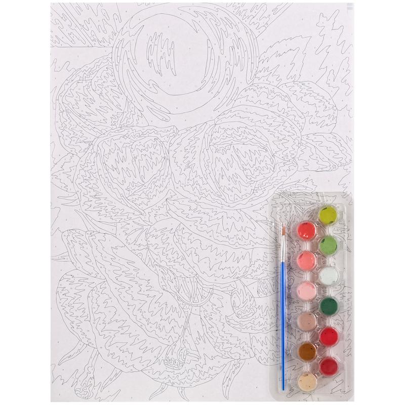 Картина по номерам А3 Маки акриловые краски