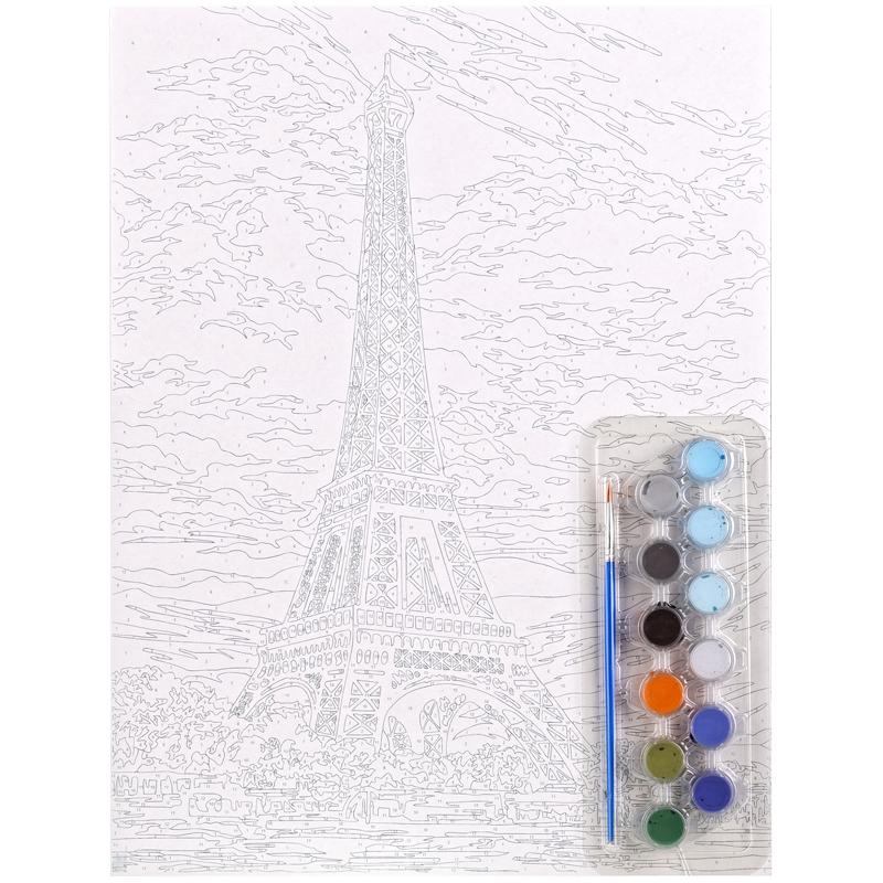 Картина по номерам А3 Париж акриловые краски