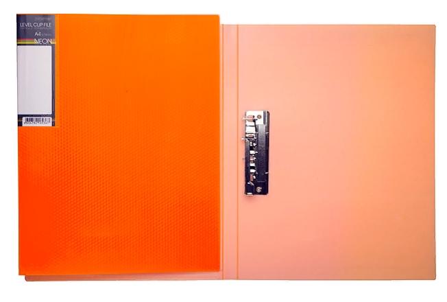 Папка с бок.мет.приж. Хатбер неоново-оранжевая