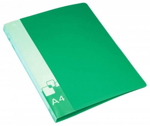Папка с бок.мет.приж.+внут.карм. 0,7мм зеленая