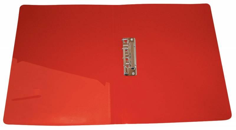 Папка с бок.мет.приж.+внут.карм. 0,7мм красная