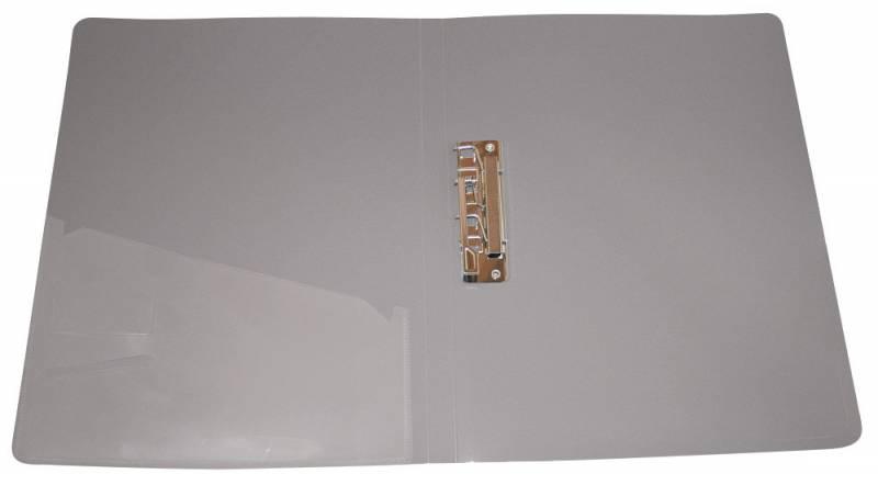Папка с бок.мет.приж.+внут.карм. 0,7мм серая