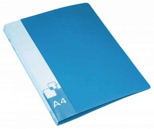 Папка с бок.мет.приж.+внут.карм. 0,7мм синяя