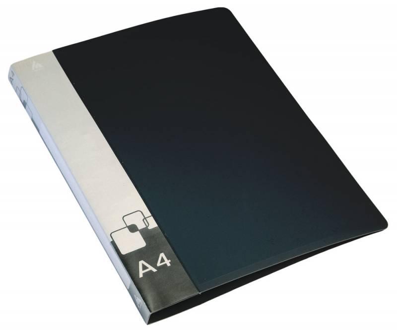 Папка с бок.мет.приж.+внут.карм. 0,7мм черная