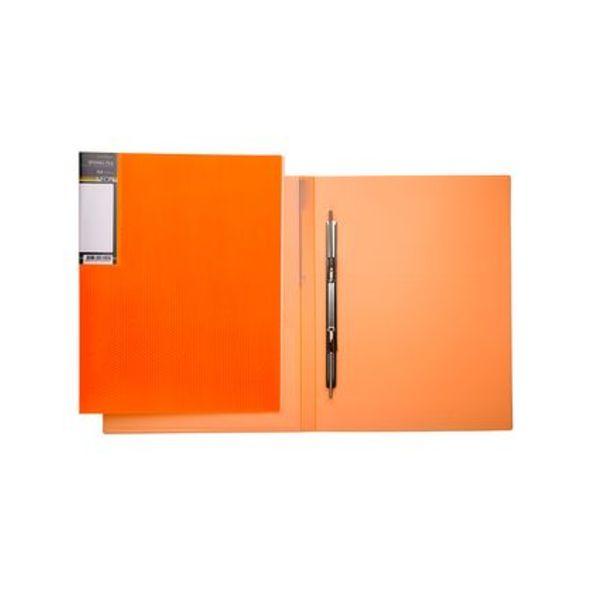 Папка с мет.скоросш. Хатбер 17мм неоново-оранжевая