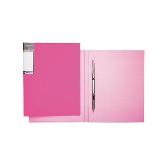 Папка с мет.скоросш. Хатбер 17мм неоново-розовая