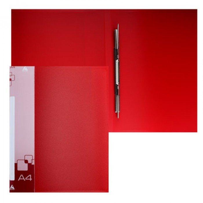 Папка с мет.скоросш.+вн.карм. 0,7мм красная
