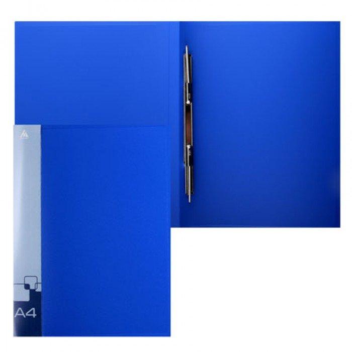 Папка с мет.скоросш.+вн.карм. 0,7мм синяя