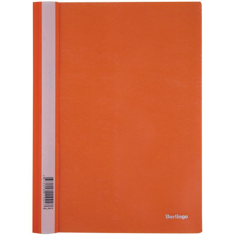 Папка скоросшиватель Berlingo пласт. А4 оранжевая
