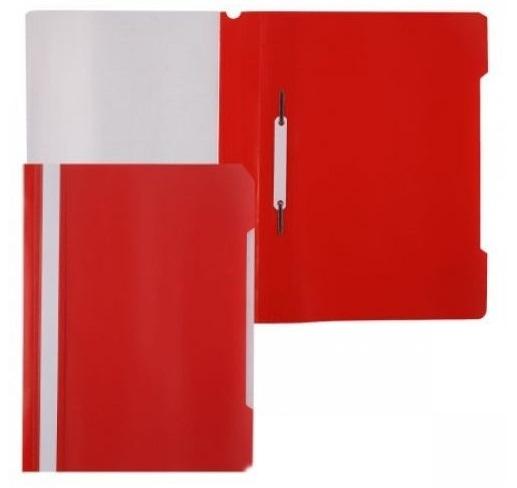 Папка скоросшиватель Бюрократ пласт. А4 красная