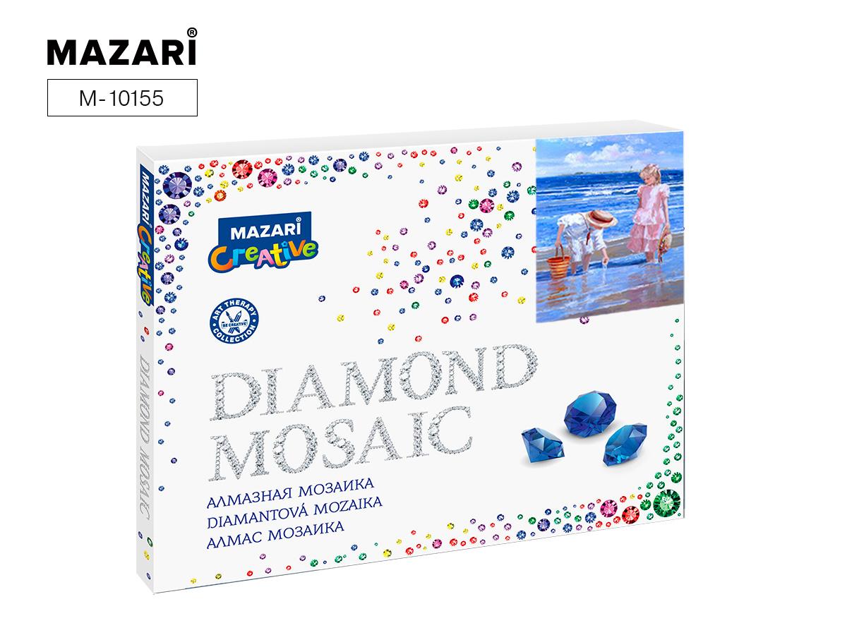 Алмазная мозаика 40*50см Дети на берегу полная выкладка