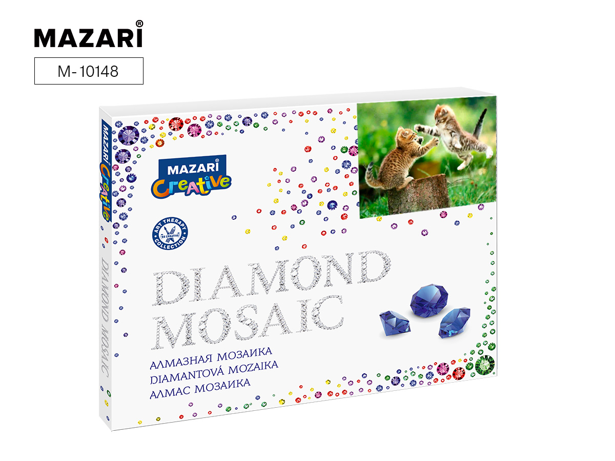 Алмазная мозаика полная выкладка 40*50см Котики