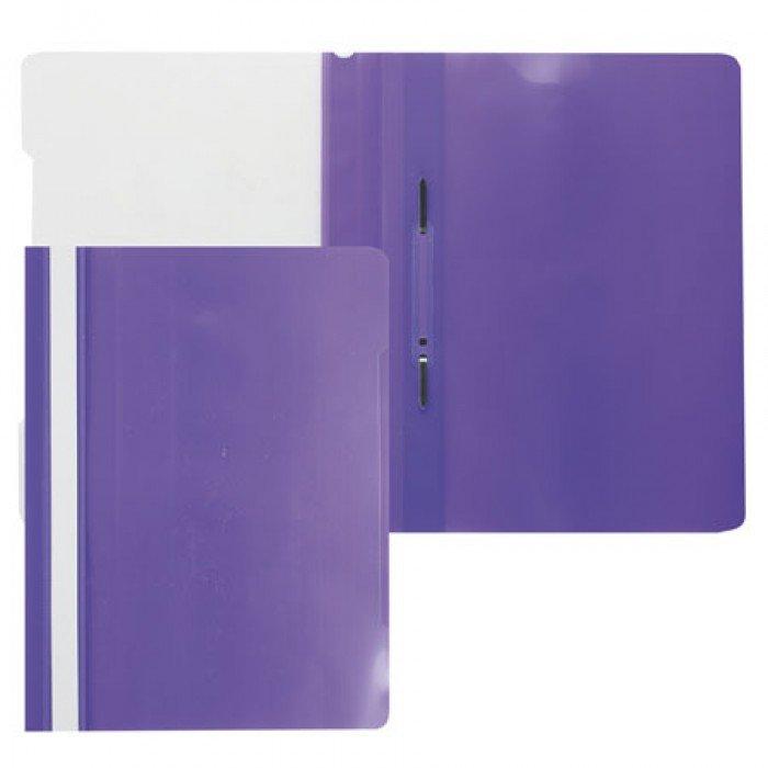 Папка скоросшиватель Бюрократ пласт. А4 фиолетовая