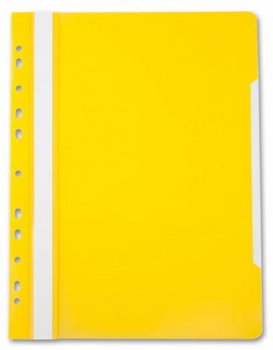 Папка скоросшиватель с перфор. Бюрократ А4 желтый