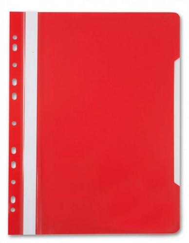 Папка скоросшиватель с перфор. Бюрократ А4 красный