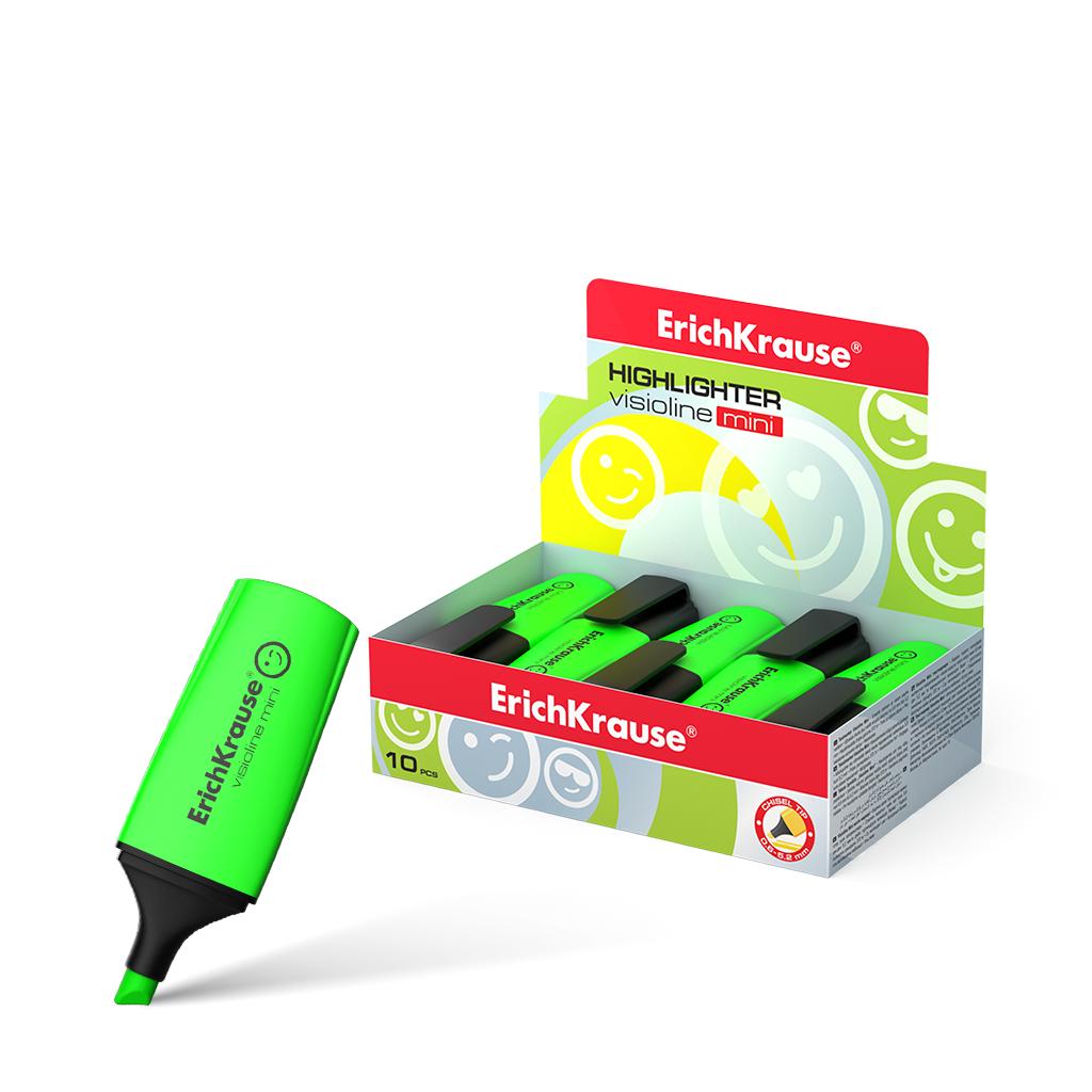 Текстовыделитель ErichKrause Visioline Mini зеленый